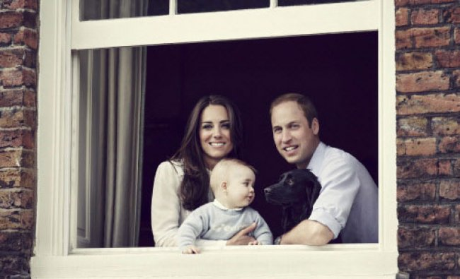 Britain\'s Prince William, Catherine, Duchess of Cambridge and their son Prince George...