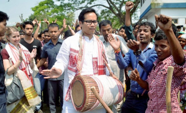 West Bengal Congress chief Adhir Chowdhury campaigns in the support of party candidate Rejia ...