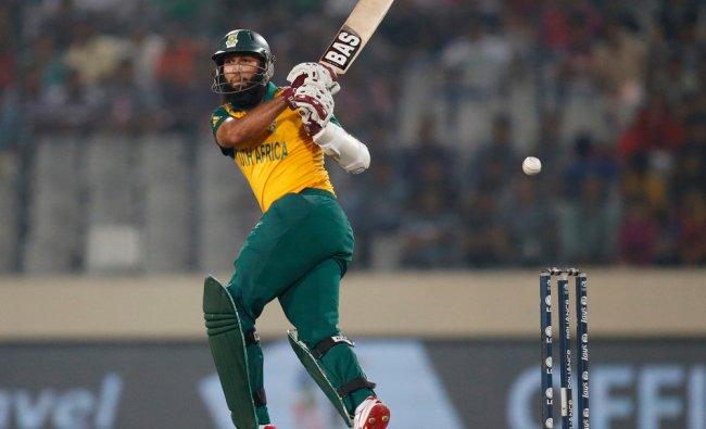 South Africa\'s batsman Hashim Amla plays a shot against India ...
