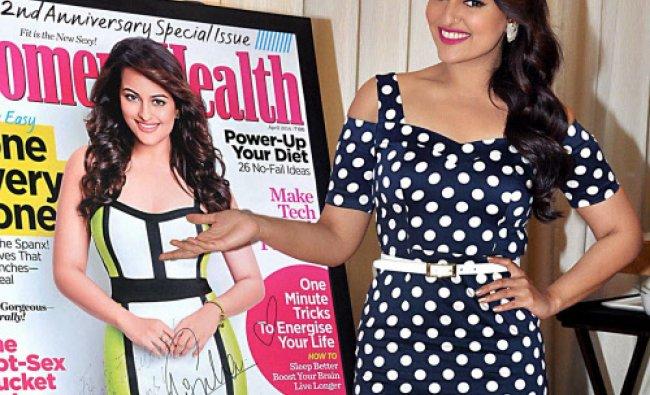 Bollywood actress Sonakshi Sinha launch the Women\'s Health Magazine cover in Mumbai, PTI Photo