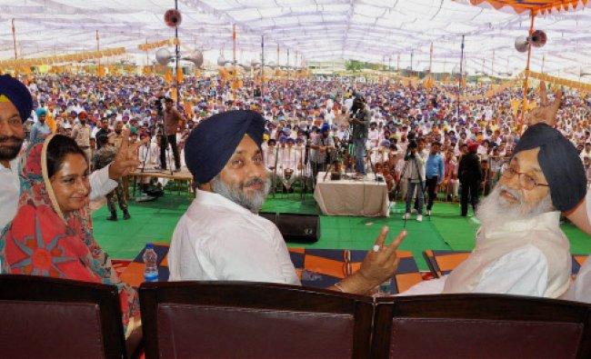 Punjab Chief Minister Parkash Singh Badal, Shiromani Akali Dal president Deputy Chief Minister...