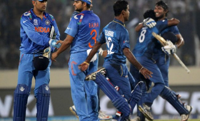 Sri Lanka\'s players celebrate after they won the ICC Twenty20 World Cup cricket title...