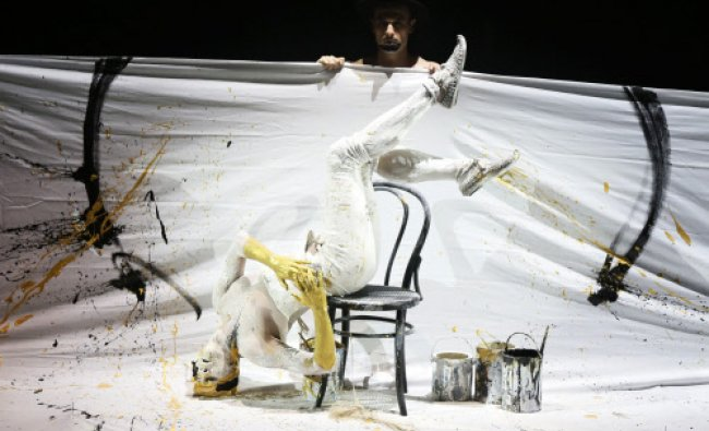 Pandurs Theatres and National Theatre of Zagreb of Croatia perform the play \'Medea\' during a...