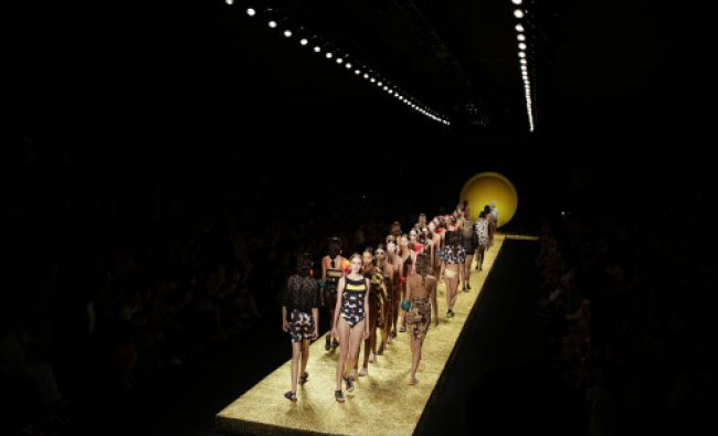 Moldes wear creations from the Salinas collection during Fashion Week in Rio de Janeiro, Brazil...