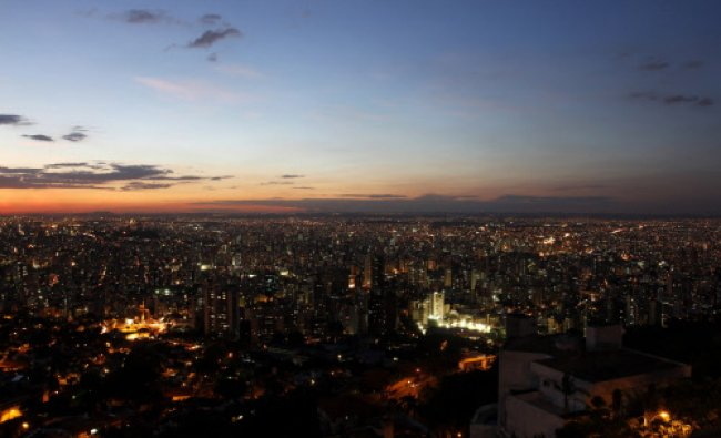 A general view of the Belo Horizonte as the sun sets April 8, 2014. Belo Horizonte is one of the...