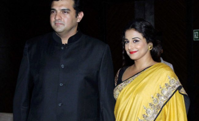 Bollywood actress Vidya Balan with husband Siddharth Roy during the fundraiser in support...
