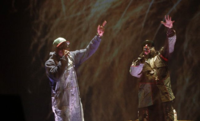 Big Boi and Andre 3000 of Outkast perform at the Coachella Valley Music and Arts Festival in ...