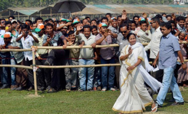 West Bengal Chief Minister and TMC Supremo Mamata Banerjee during her election campaign...