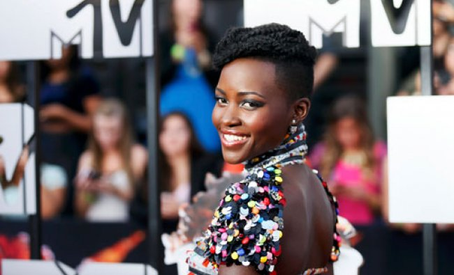 Actress Lupita Nyong\'o arrives at the 2014 MTV Movie Awards in Los Angeles, California April 13...