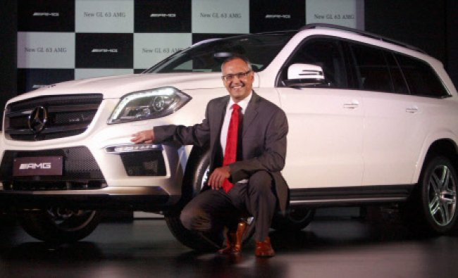 Eberhard Kern, Managing Director & CEO, Mercedes-Benz India during the launch of Mercedes GL 63...