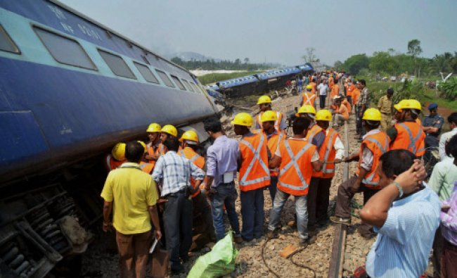 Rescue work is carried out after Dimapur-Kamakhya BG Express derailed near Jagiroad Station...