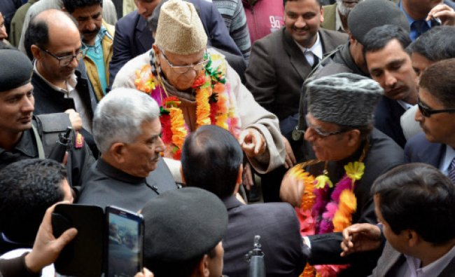 Union minister and National Conference (NC) President Farooq Abdullah and JKPCC chief...