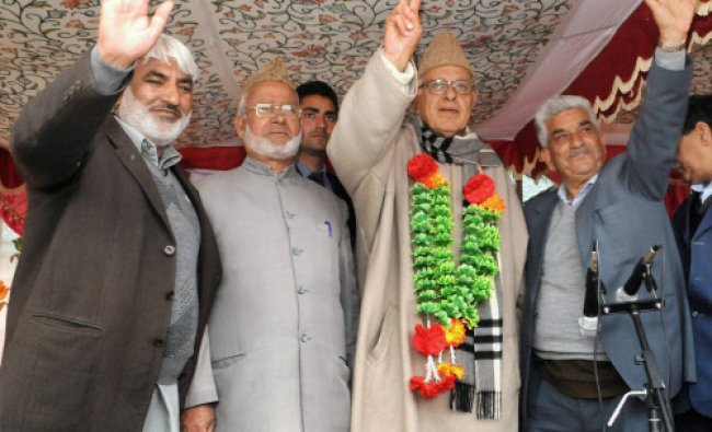 Union Minister and National Conference (NC) president Farooq Abdullah...