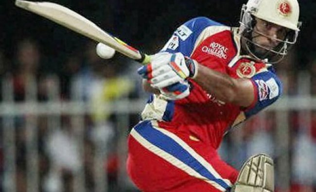 Yuvraj Singh of the Royal Challengers Bangalore during match 2 of the Pepsi Indian Premier League...
