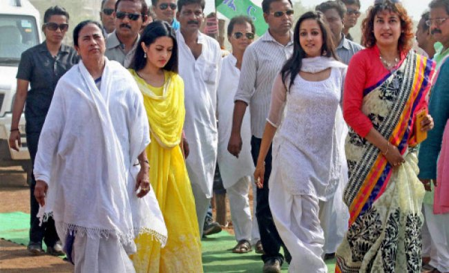 West Bengal Chief Minister Mamata Banerjee during an election rally in Birbhum...