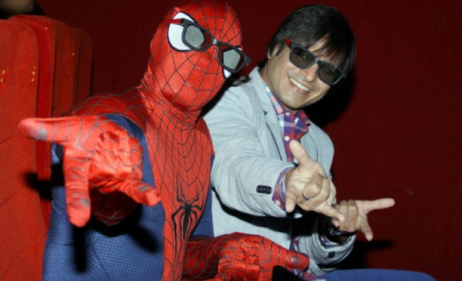 Bollywood actor Vivek Oberoi at a special screening of \'Amazing Spiderman 2\' ...
