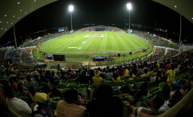 Genral view of the ground during IPL 7 match between Sunrisers Hyderabad and Rajasthan Royals...