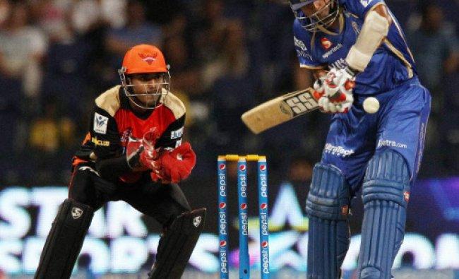 Stuart Binney of Rajatshan Royals plays a shot during IPL 7, against Sunrisers Hyderabad...