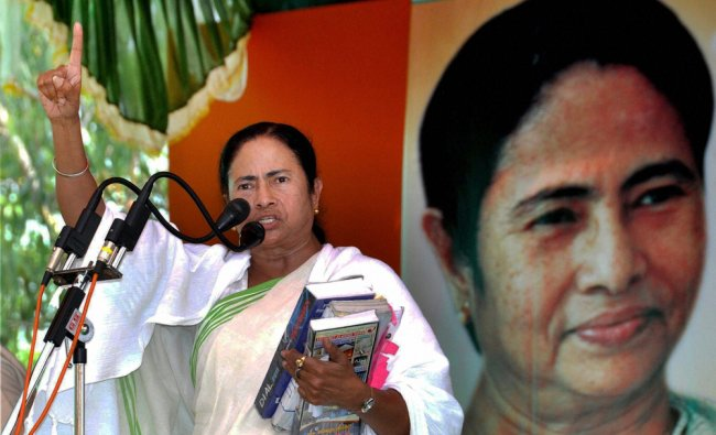 WB CM and TMC Chief Mamata Banerjee addresses an election rally in support of her party ...
