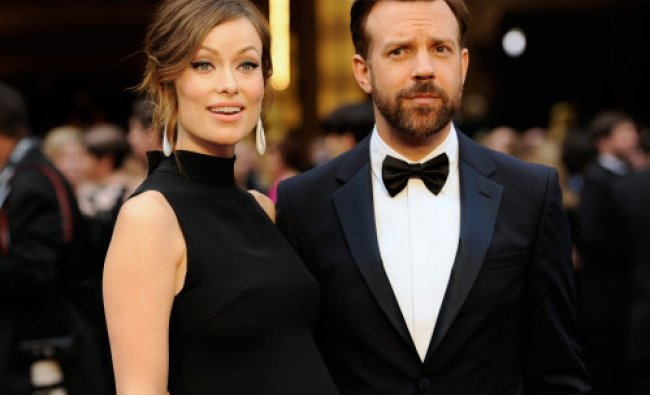 In this Sunday, March 2, 2014 file photo, Olivia Wilde, and Jason Sudeikis arrive at the ...