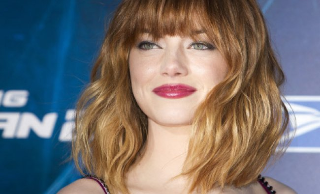 Actress Emma Stone arrives for \'The Amazing Spider-Man 2\' premiere in New York April 24, 2014...