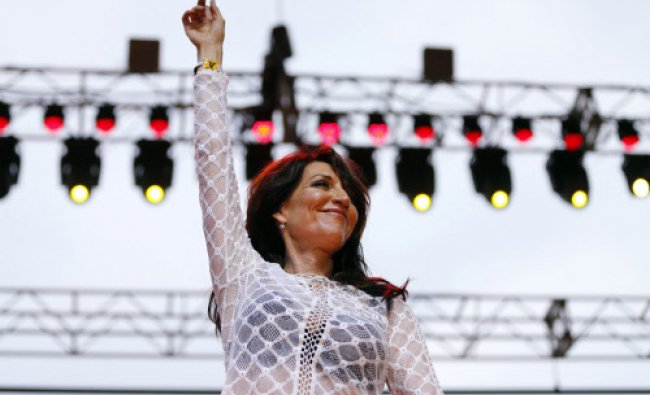 Singer and actress Katey Sagal performs with the band The Forest Rangers on the first day ...