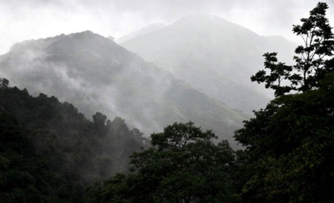 Mountains on Charmadi Ghat appear and disappear admist the clouds giving a spectacular view...