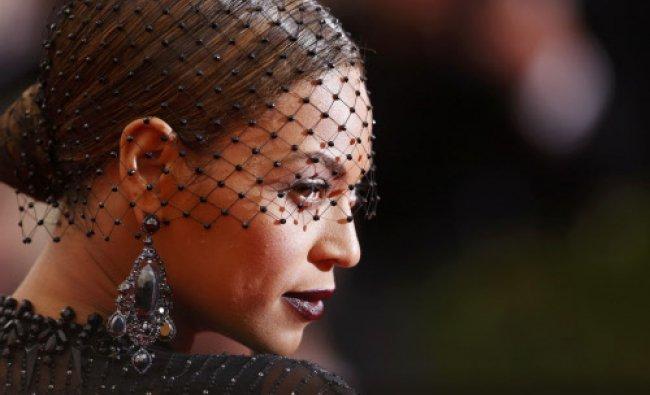 Singer Beyonce Knowles arrives at the Metropolitan Museum of Art Costume Institute Gala Benefit...