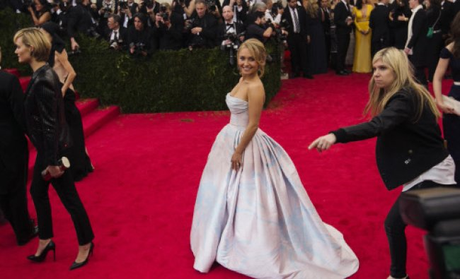 Actress Hayden Panettiere arrives at the Metropolitan Museum of Art Costume Institute Gala...