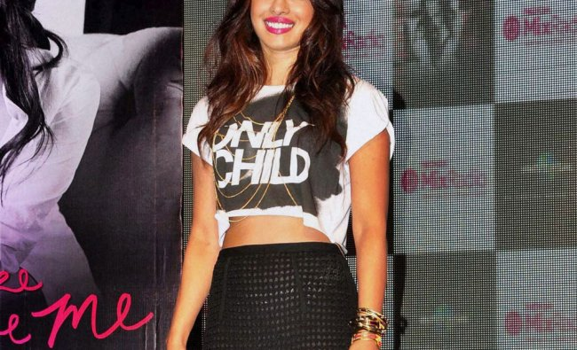 Bollywood actress Priyanka Chopra during launch of her new album \'I Can\'t Make You Love Me\' ...