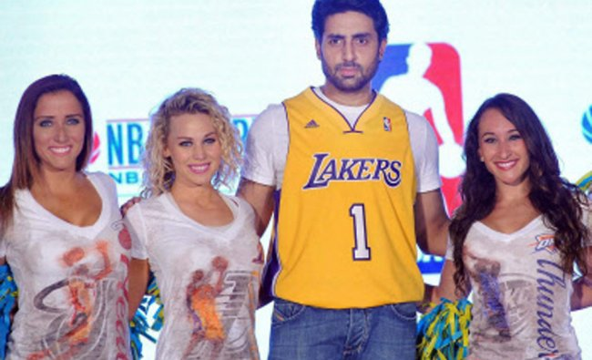 Bollywood actor Abhishek Bachchan during the launch of NBAs first official online store...