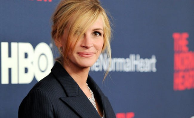 Actress Julia Roberts attends the premiere of HBO Films\' \'The Normal Heart\' at the Ziegfeld...