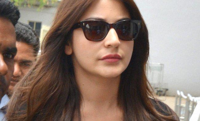 Bollywood actress Anushka Sharma leaves after a film shoot in Khejarla Fort in Jodhpur ...