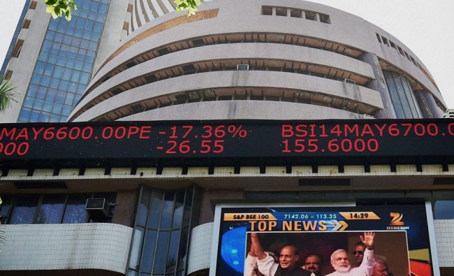 The Sensex crossed the 24,000 points mark at Bombay Stock Exchange in Mumbai ...