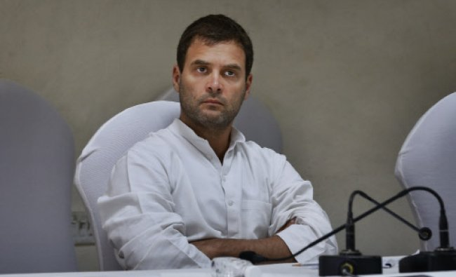 Rahul Gandhi, attends a meeting of the Congress Working Committee to review the partys defeat...