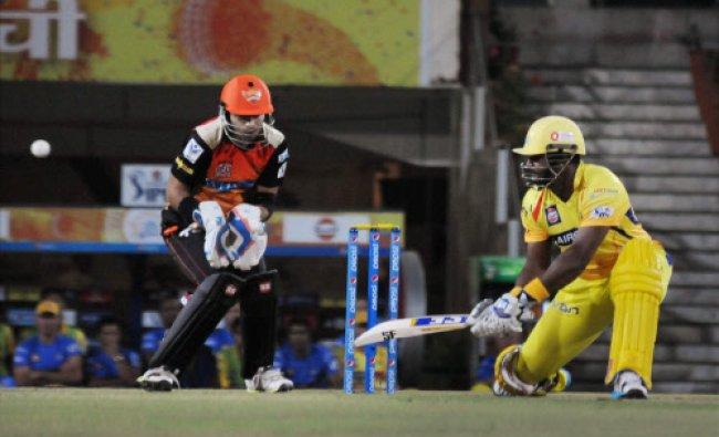 Suresh Raina of Chennai Super Kings plays a shot during an Indian Premier League match...