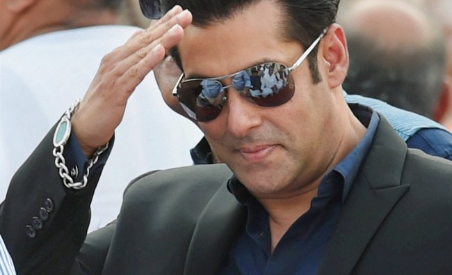 Actor Salman Khan at the swearing-in ceremony of the NDA government at Rashtrapati Bhavan ...