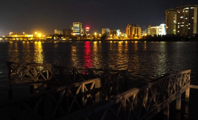 The Victoria Island waterfront is seen from the Ikoyi neighbourhood in Lagos June 3, 2014. REUTERS