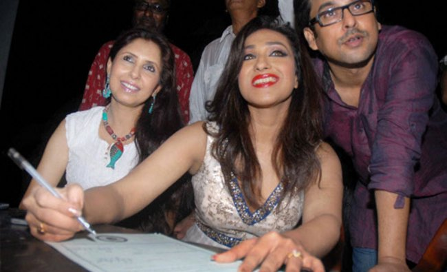 Rituparna Sengupta pledging to donate her body after her death at an awareness programme in...