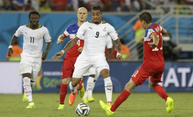 Ghana\'s Kevin-Prince Boateng runs with the ball during the group G World Cup soccer match...