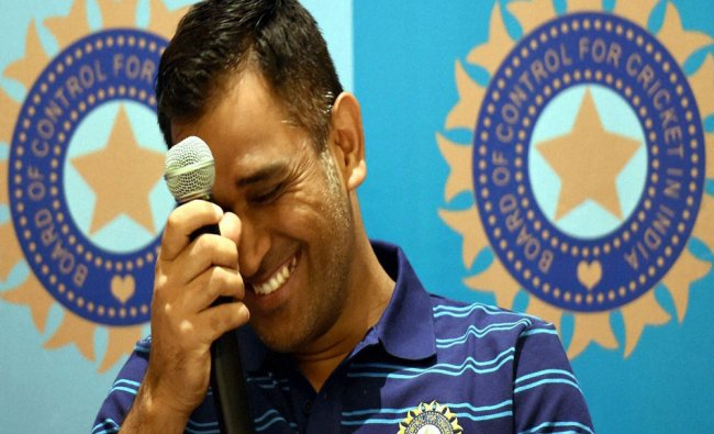 Indian team captain M S Dhoni interacts with media in Mumbai on Saturday during the press ...
