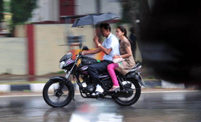 The city received heavy downpour on Saturday, at Hunsur Road in Mysore. Rain brought respite from...