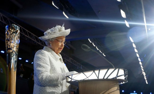 Britain\'s Queen Elizabeth II at the opening ceremony of the ...