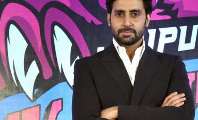 Owner of Jaipur Pink Panther Kabaddi Team Abhishek Bachchan during a promotional event...