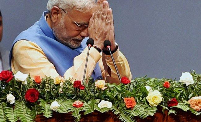 Narendra Modi after addressing Parliament of Nepal (Sanvidhan Sabha) ...
