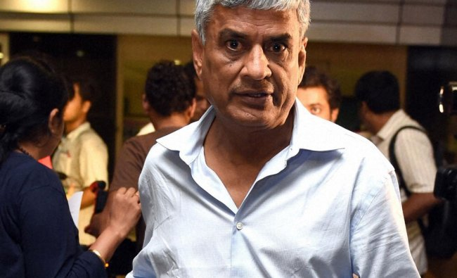 BCCI secretary Sanjay Patel leaves after team selection meeting for one day series ...
