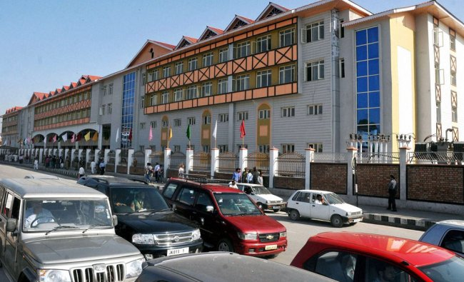 A view of the rehabilitation shopping complex that was inaugurated in Srinagar ...