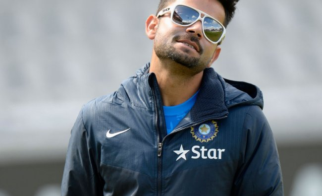 Virat Kohli during a training session before the fourth cricket test match against England ...