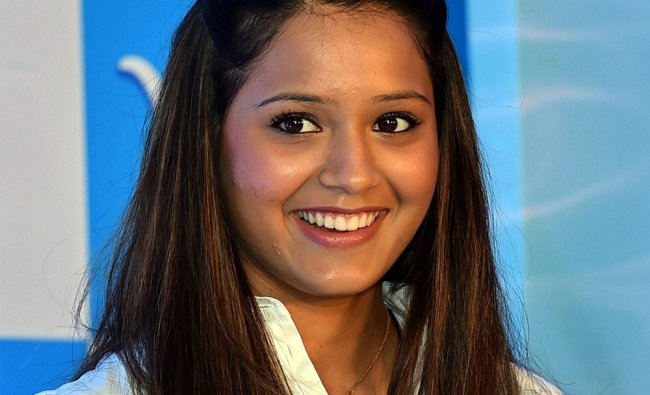 CWG squash gold medalist Deepika Pallikal at a product launch event in Chennai ...