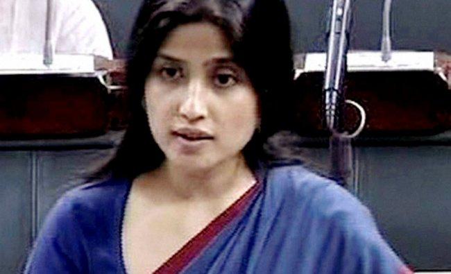 Samajwadi Party MP Dimple Yadav speaks in the Lok Sabha in New Delhi ...